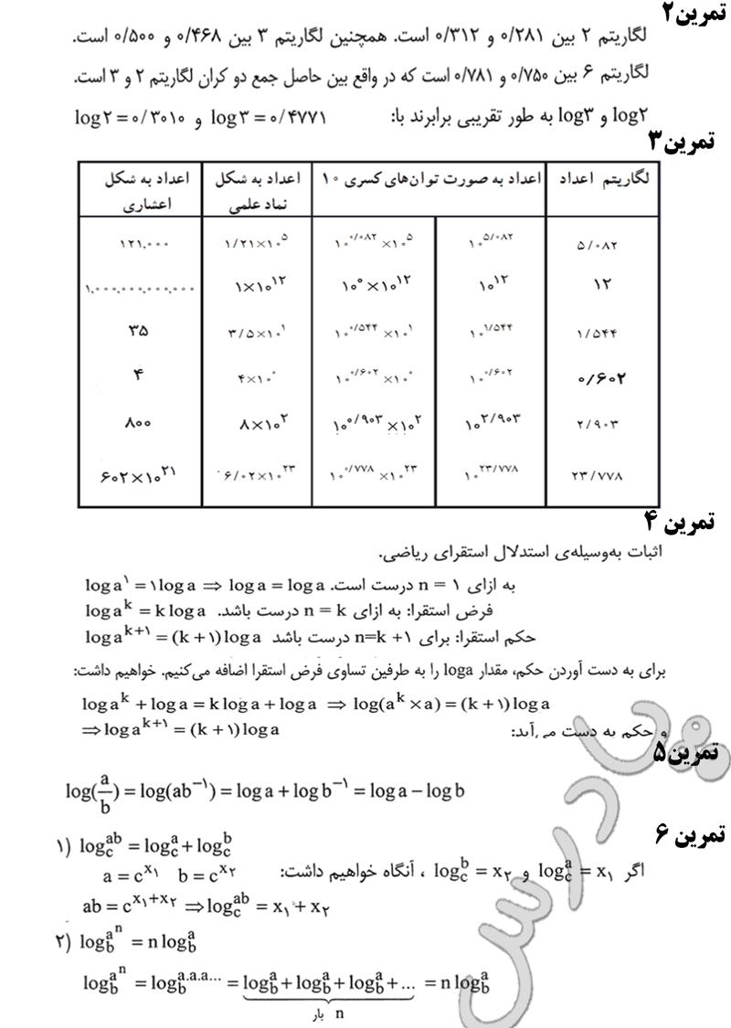 حل تمرین صفحه 63 ریاضی پایه پیش انسانی
