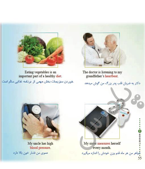 ترجمه صفحه 55 درس2 زبان یازدهم
