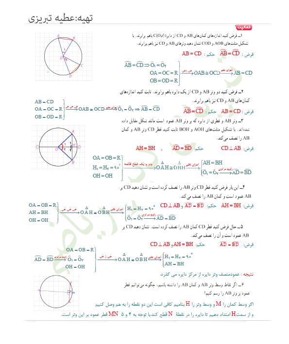 پاسخ فعالیت صفحه 13 هندسه یازدهم