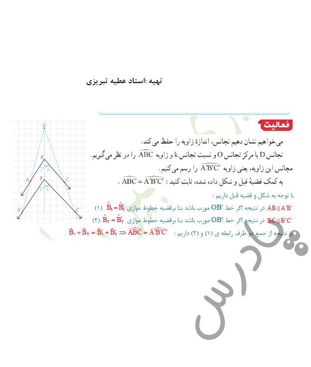 پاسخ فعالیت صفحه 48 هندسه یازدهم