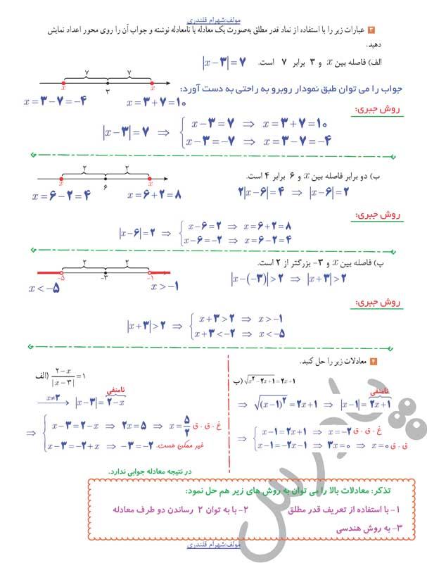 حل تمرین3و4 صفحه31 حسابان یازدهم