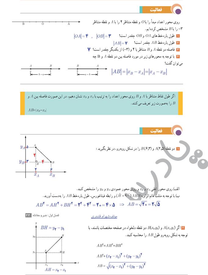 حل فعالیت صفحه33 حسابان یازدهم
