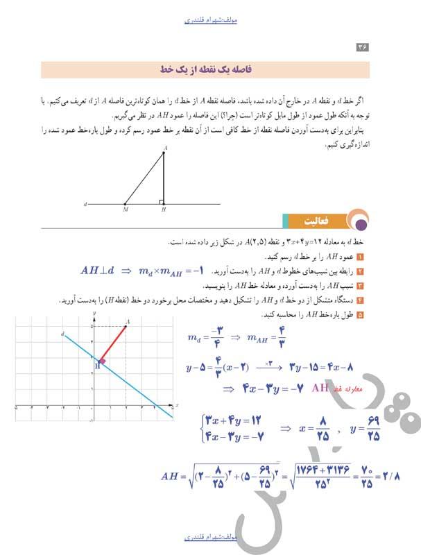 حل فعالیت صفحه36 حسابان یازدهم