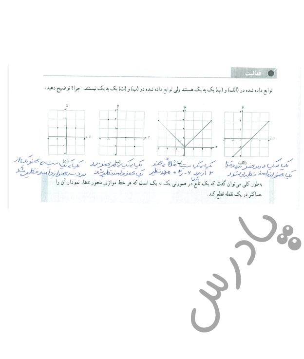پاسخ فعالیت صفحه 56 حسابان یازدهم