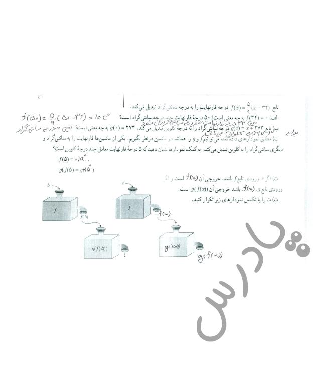 پاسخ فعالیت صفحه 66 حسابان یازدهم
