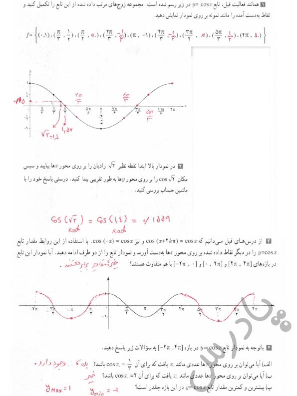 پاسخ فعالیت صفحه 106 حسابان یازدهم