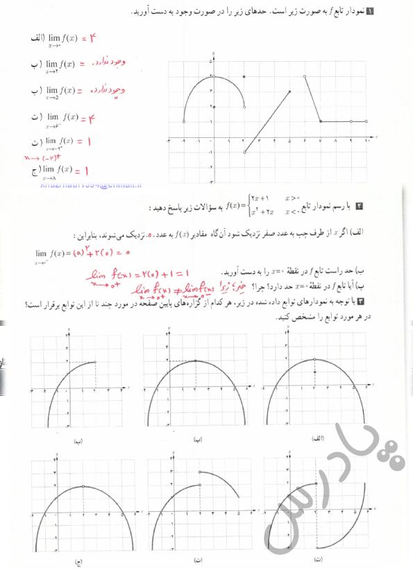 حل تمرین صفحه 127 حسابان یازدهم
