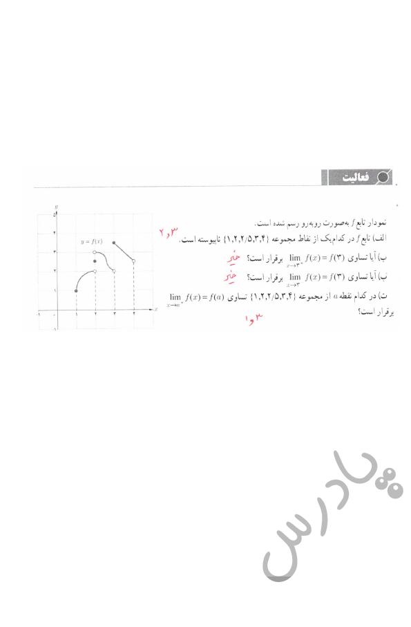 پاسخ فعالیت صفحه 148 حسابان یازدهم