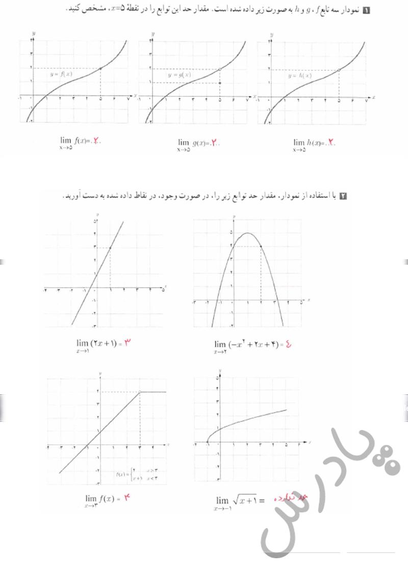 حل تمرین صفحه 120 حسابان یازدهم