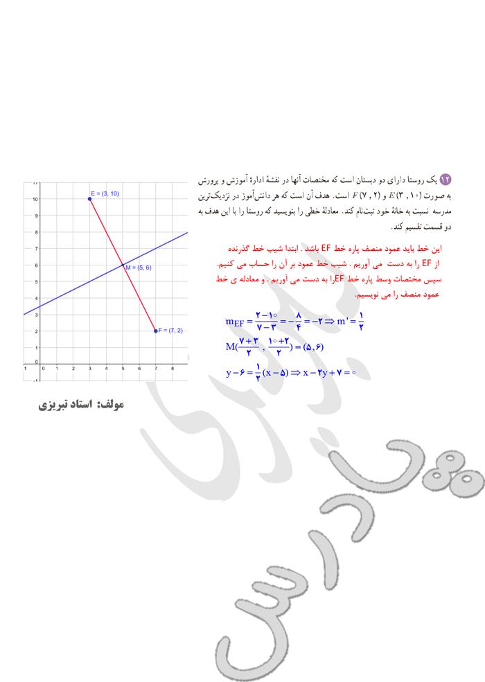 ادامه حل تمرین فصل 1 ریاضی یازدهم