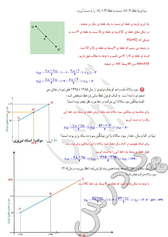 ادامه پاسخ کاردرکلاس صفحه7 ریاضی یازدهم
