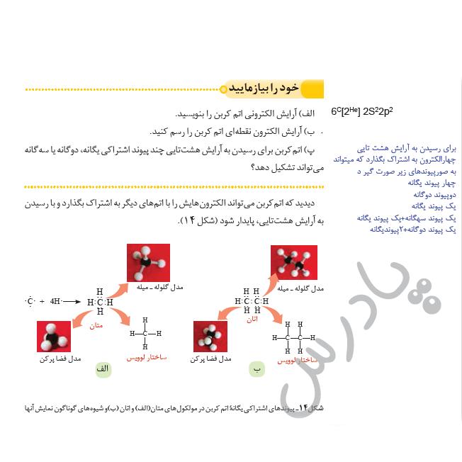 جواب خودرابیازمایید صفحه 30 شیمی یازدهم