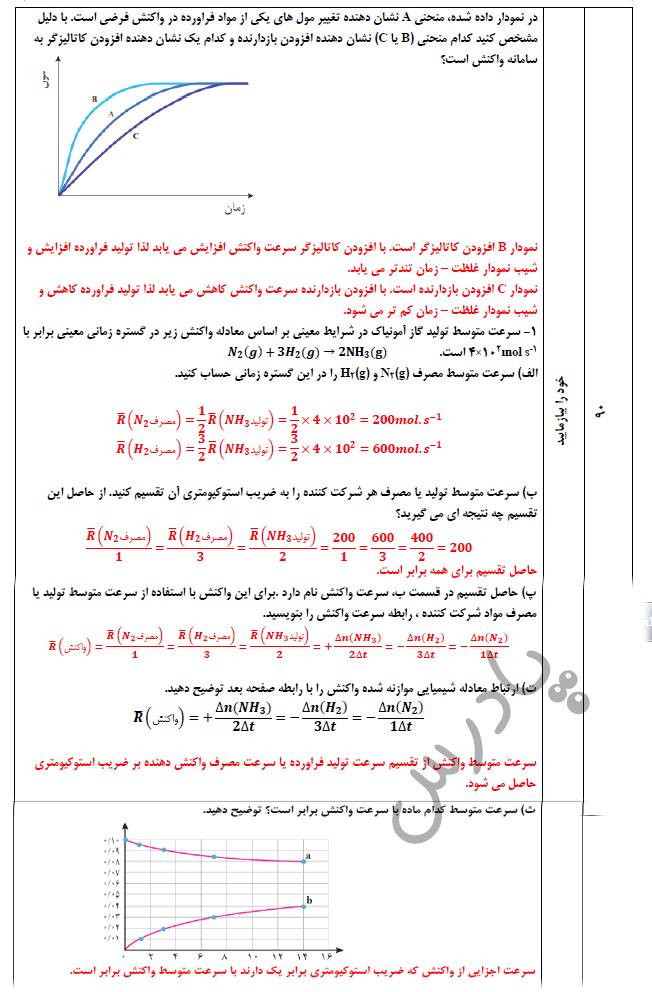جواب خود رابیازمایید صفحه 90 شیمی یازدهم