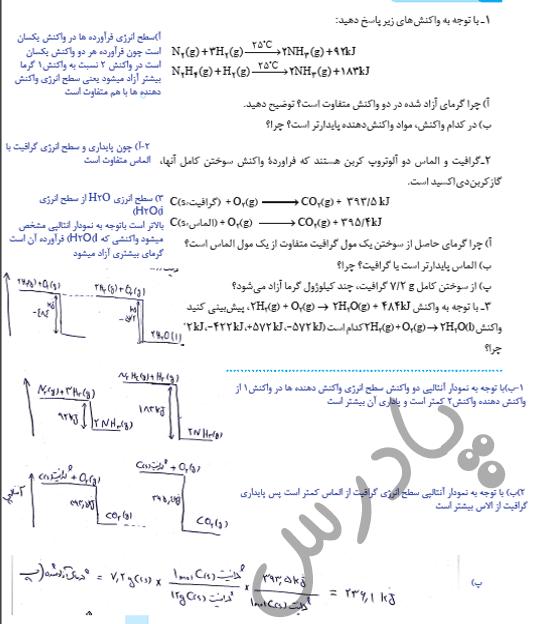 جواب باهم بیاندیشیم صفحه 63 شیمی یازدهم
