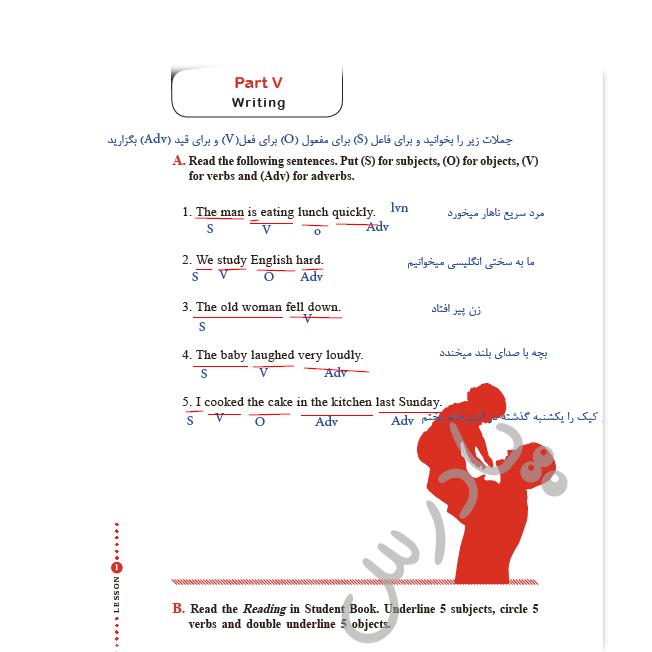 حل تمرین صفحه 20 کتاب کار زبان یازدهم