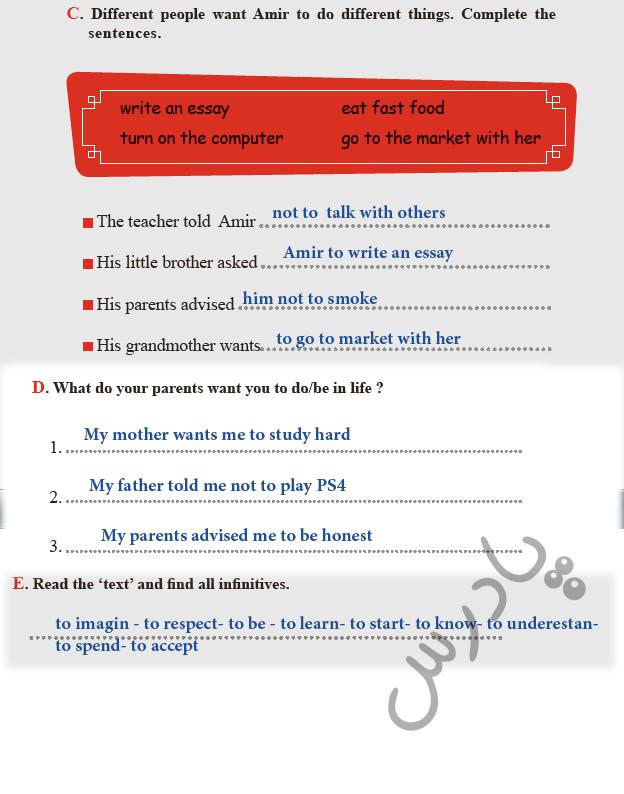 ادامه حل تمرینات بخش writing درس3 کتاب کار زبان یازدهم