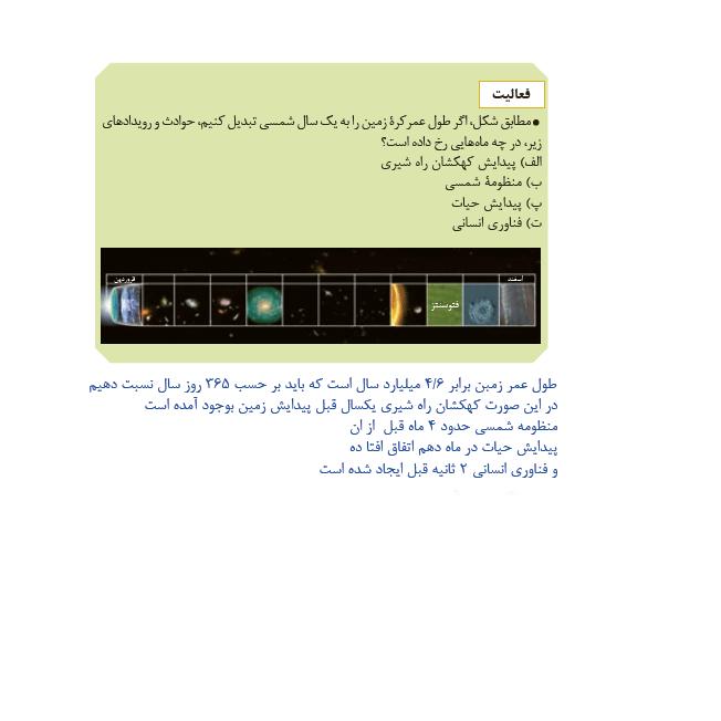 پاسخ فعالیت صفحه 15 زمین شناسی یازدهم