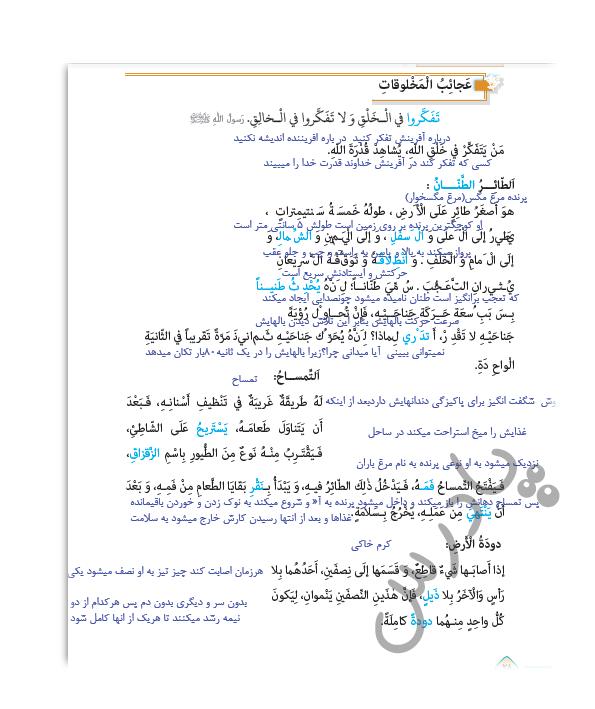 ترجمه درس 3 عربی یازدهم انسانی