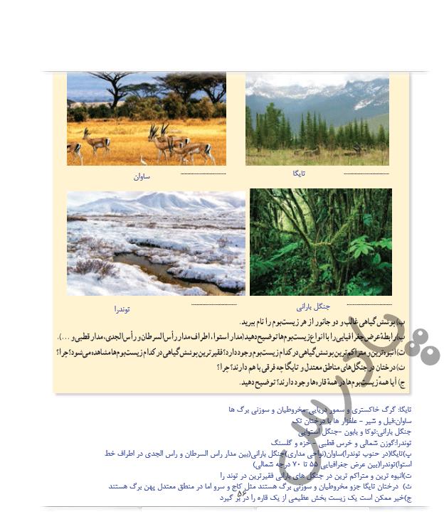 پاسخ فعالیت صفحه 56 جغرافیا یازدهم