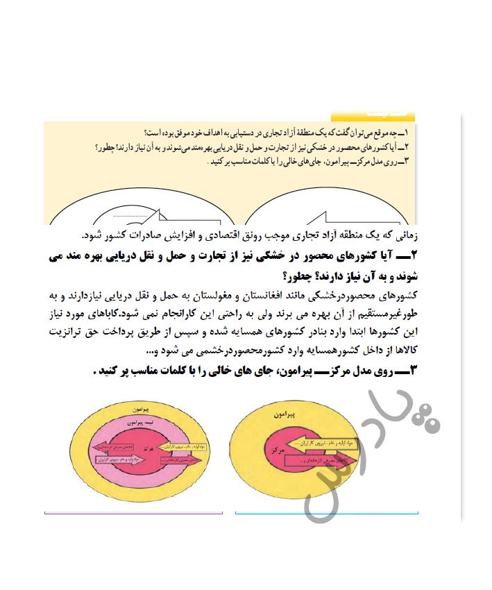 پاسخ فعالیت صفحه 122 درس 8 جغرافیا یازدهم