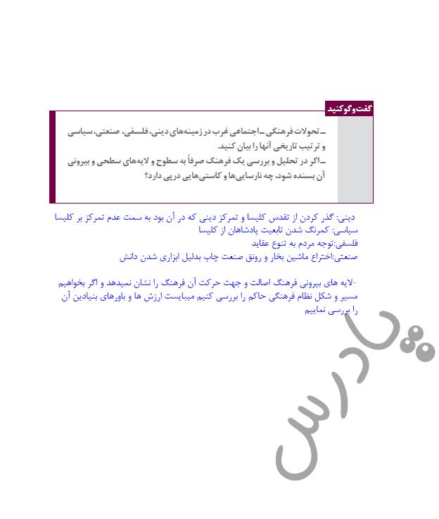 جواب گفت و گو کنید صفحه 54 درس 6 جامعه شناسی یازدهم