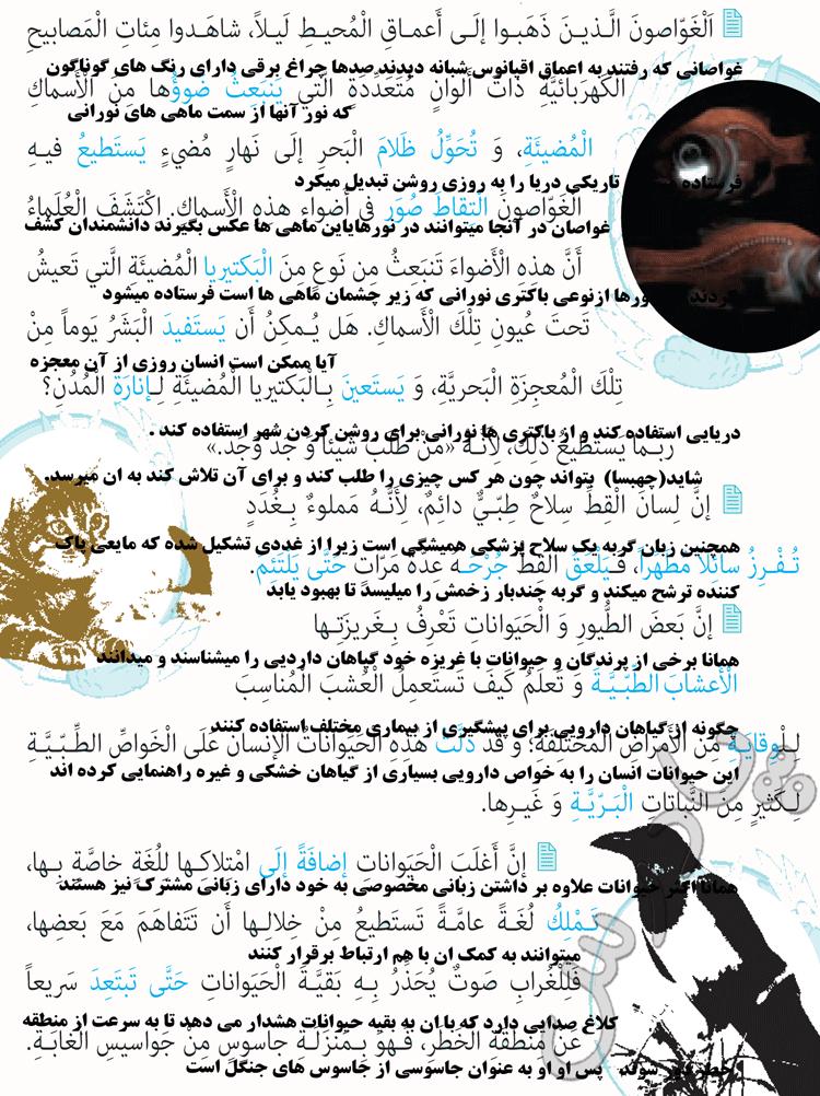 ترجمه درس 5 عربی دهم