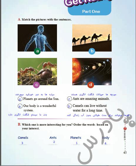حل تمرین صفحه 45 درس 2 زبان دهم