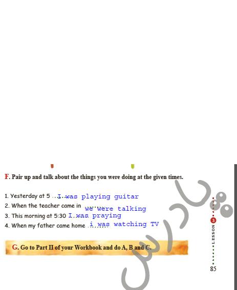 حل تمرین بخش گرامر درس 3 زبان دهم