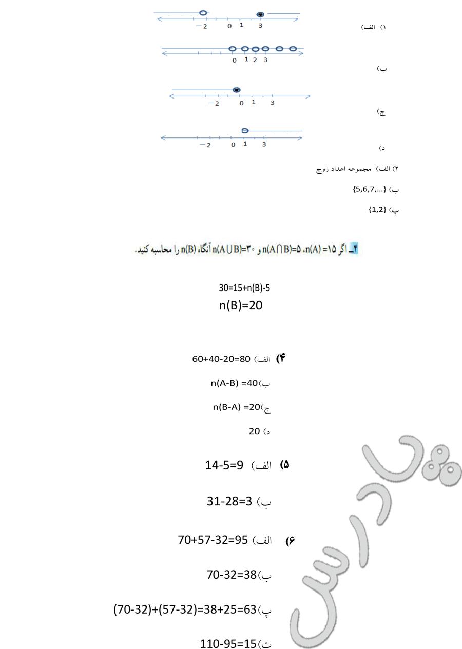حل تمرین صفحه 12