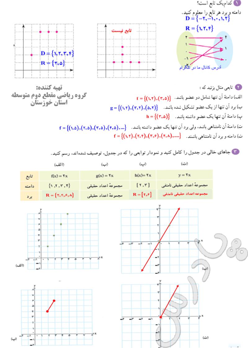 حل تمرین صفحه105 ریاضی دهم