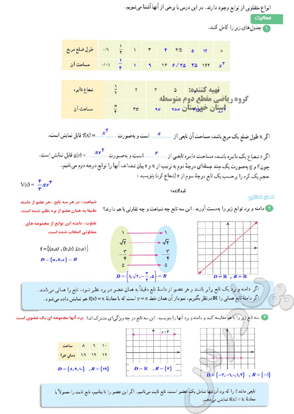 حل فعالیت صفحه 109 ریاضی دهم