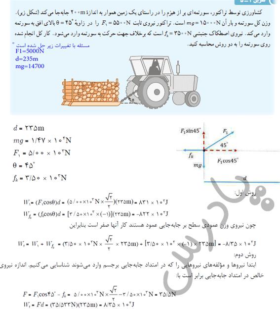 حل تمرین5 فصل 2 فیزیک دهم