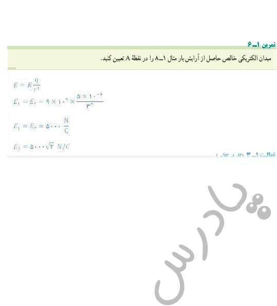 حل تمرین 6 فصل 1 فیزیک یازدهم