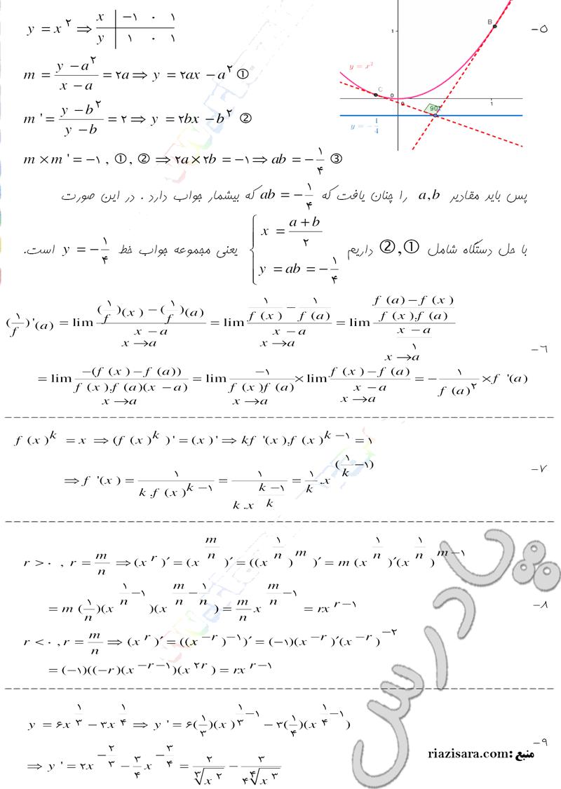 ادامه حل مسائل صفحه 174  حسابان