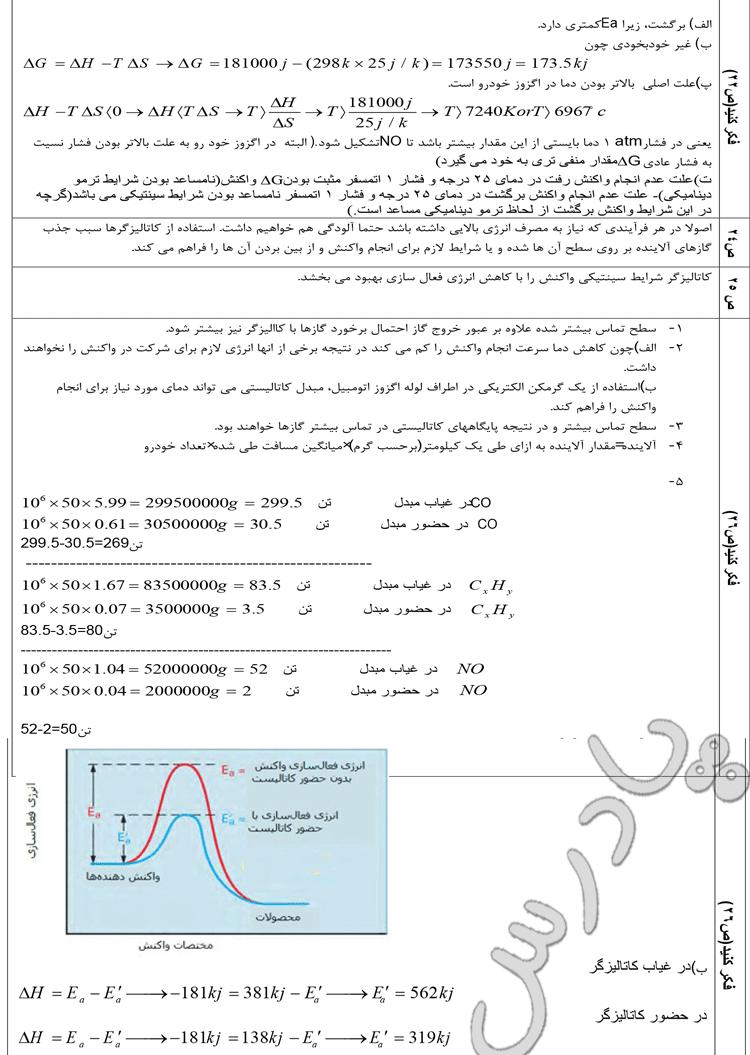 حل مسائل صفحه 22 تا 26 شیمی پیش دانشگاهی