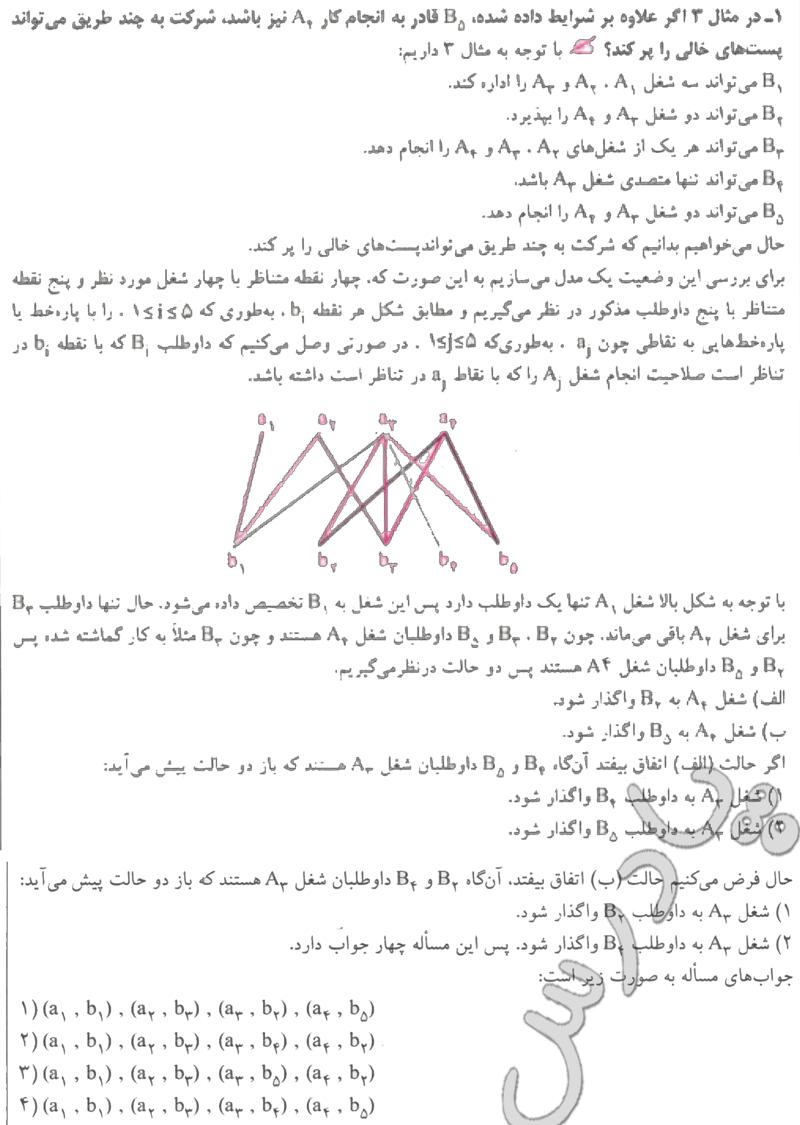 حل تمرین 1 آخر فصل 1 ریاضی گسسته پیش دانشگاهی
