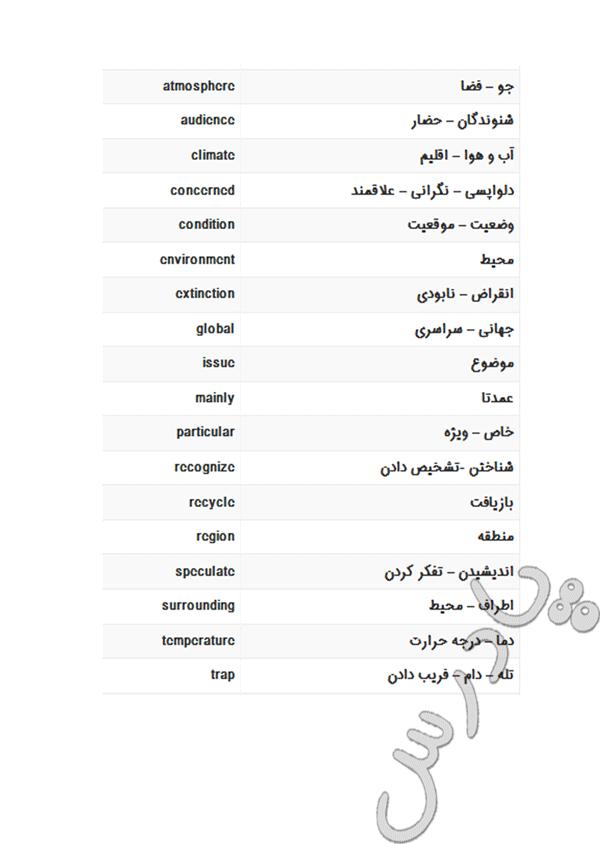 معنی لغات درس3 زبان انگلیسی پیش دانشگاهی