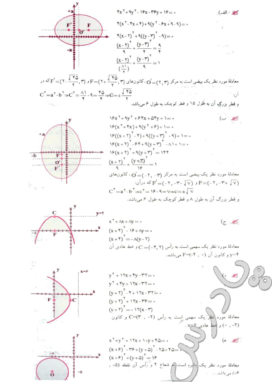 ادامه حل تمرین صفحه 82 هندسه تحلیلی پیش دانشگاهی