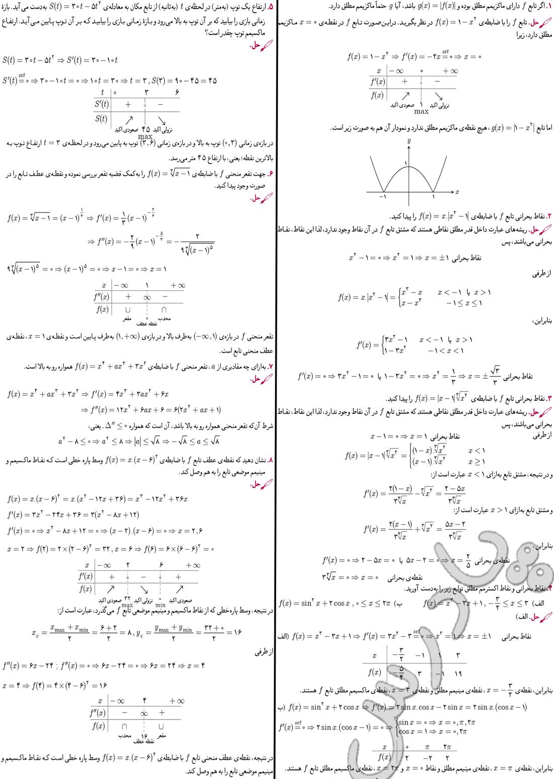 حل مسائل صفحه 190 دیفرانسیل پیش دانشگاهی