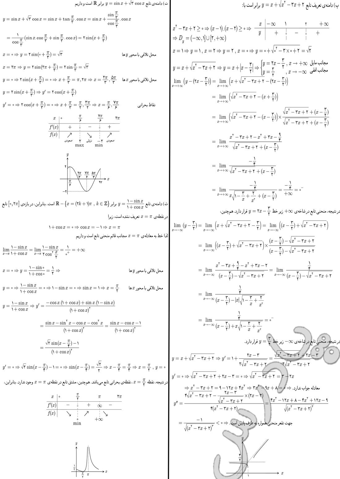 ادامه حل مسائل صفحه 210 دیفرانسیل پیش دانشگاهی