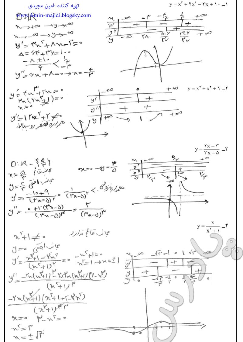 حل مسائل صفحه 107 ریاضی عمومی پیش دانشگاهی