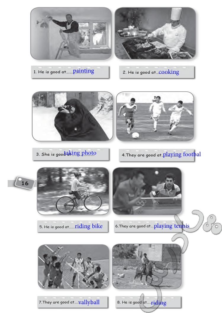 حل تمرین 5 درس 3 زبان هشتم