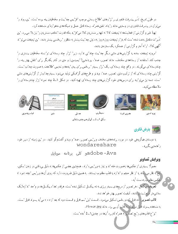 جواب بارشی فکری صفحه 68 کاروفناوری هشتم