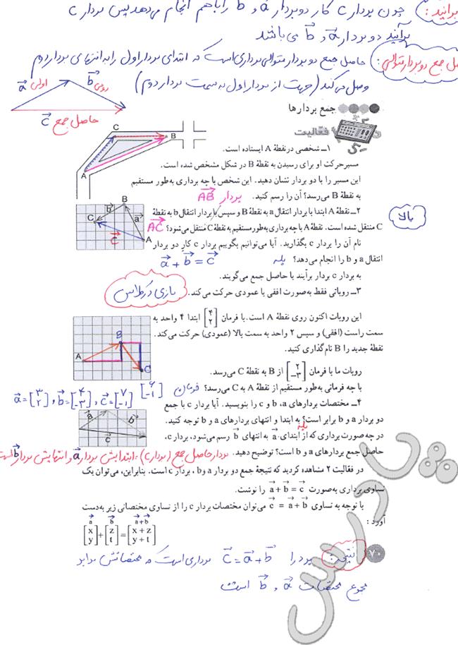 حل فعالیت صفحه 70 ریاضی هشتم
