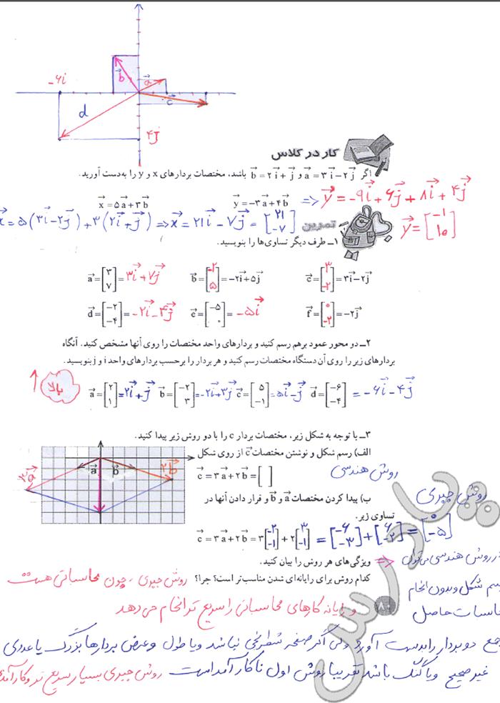 حل کار در کلاس صفحه 80 ریاضی هشتم