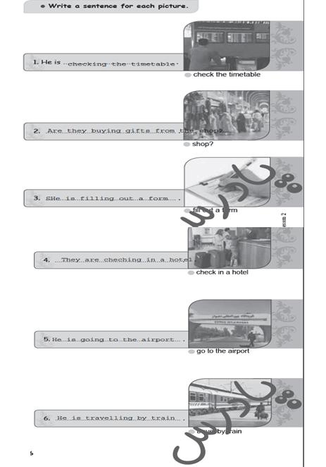 حل تمرین 5 درس 2 کتاب کار زبان نهم