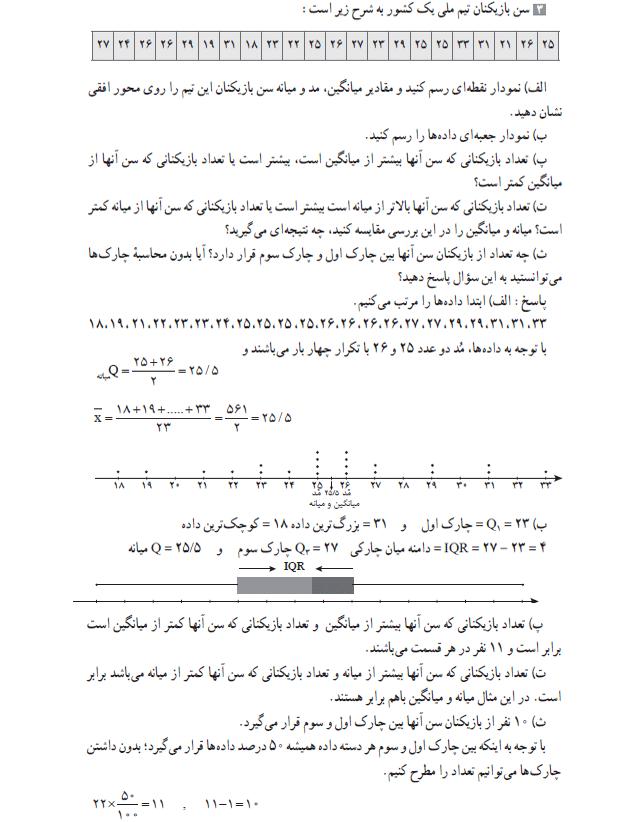 ادامه حل تمرین صفحه 109 ریاضی دهم انسانی