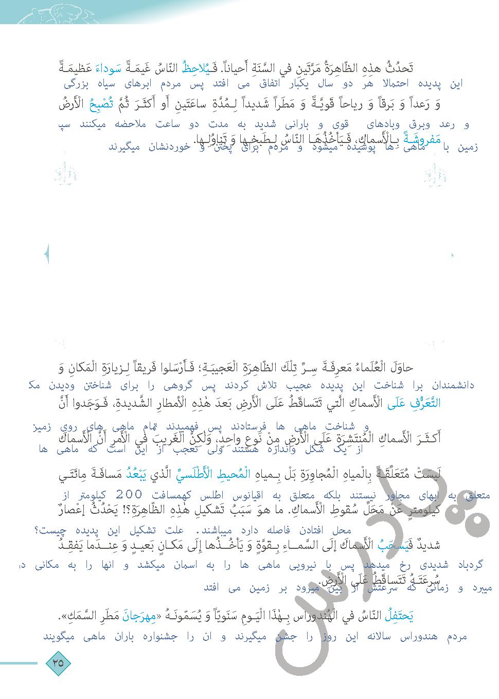 ادامه ترجمه درس سوم عربی دهم انسانی