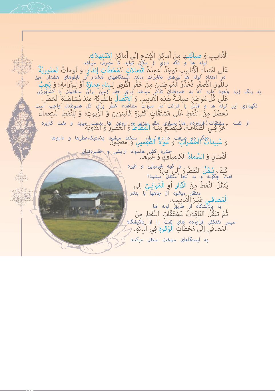 ادامه ترجمه درس 7 عربی دهم انسانی