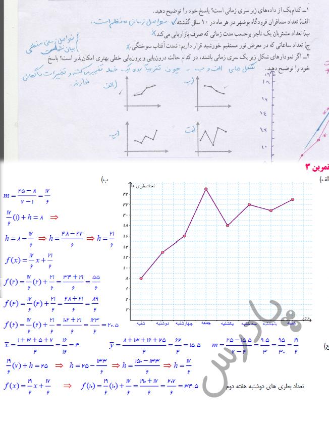 حل تمرین صفحه 68 ریاضی یازدهم انسانی